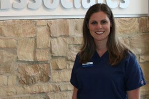 Mary O'Malley is Dr. Richard Eber's hygienist at Dental Associates Alsip